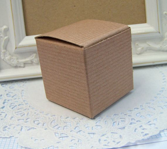 Small 2 quot x2 quot x2 quot kraft pinstripe boxes qty 25 christmas wedding g