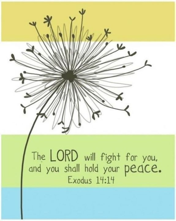 our lord will fight for us god pinterest