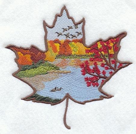 Maple Leaf Scene Embroidery Pattern  Thanksgiving  Pinterest