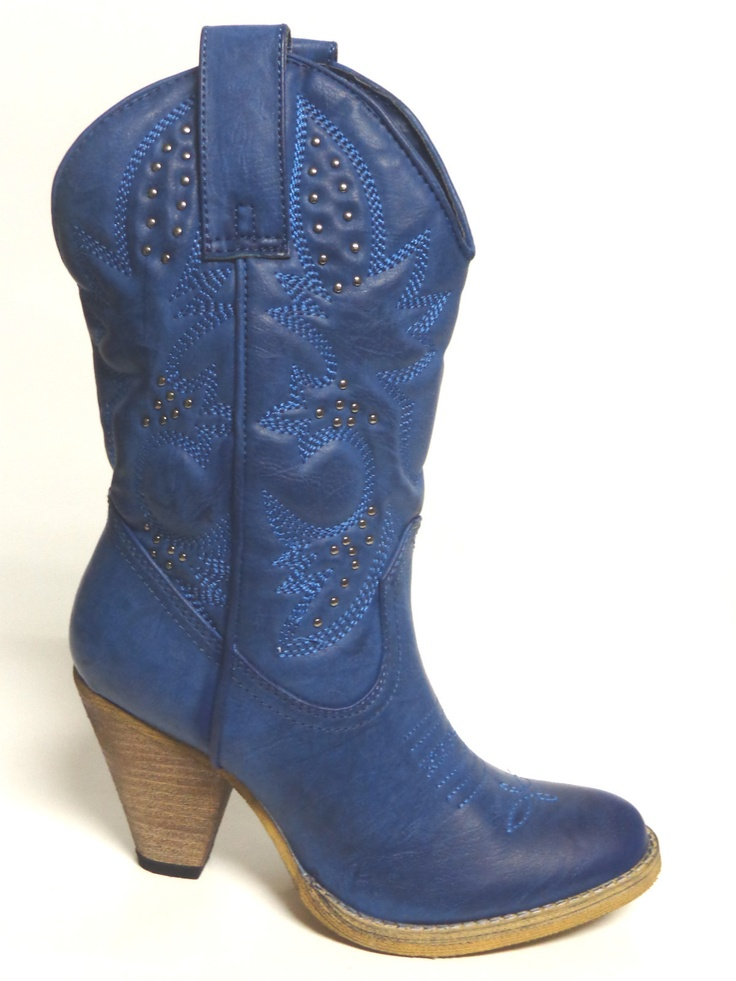 volatile western boots quot denver petrol quot blue