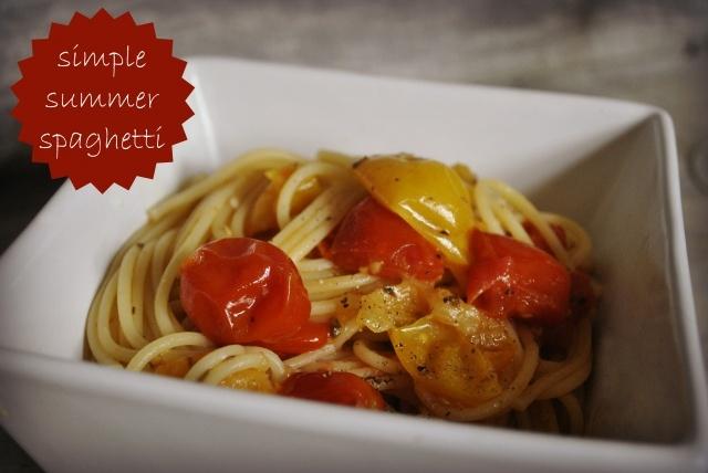 Simple Summer Spaghetti   Dinner Recipes   Pinterest