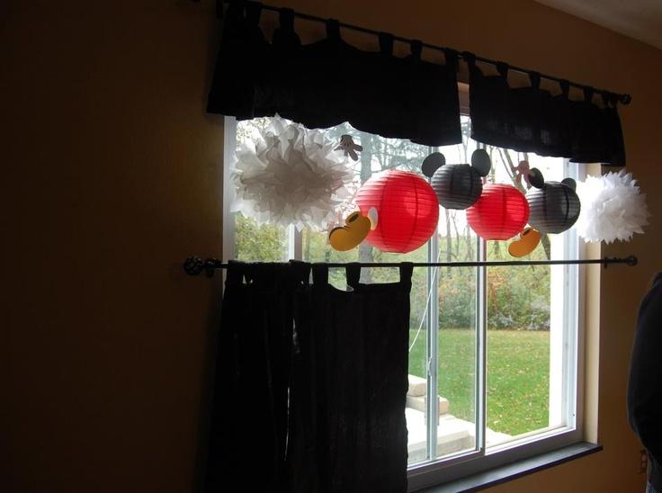 Mickey Mouse Birthday Kitchen Window Entertain Pinterest