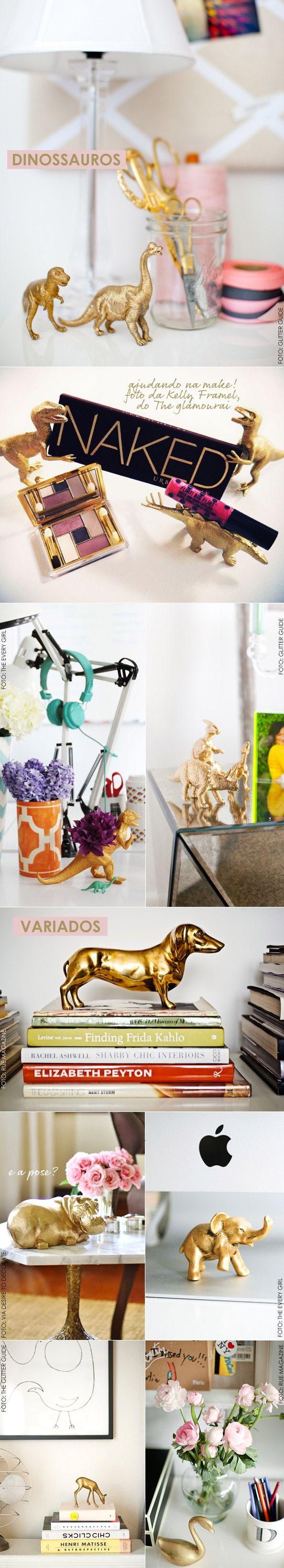Peindre des jouets en argent ou en blanc, comme une sorte de rappel dans toutes les pièces de la maison (cale-porte, presse papiers et presse livres, patères d'enfant,...)