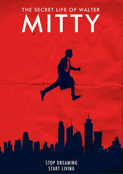The Secret Life of Walter Mitty minimal movie poster ...