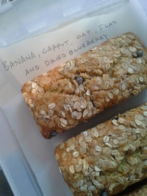 , oat, blueberry and flax seed quick bread. YUMMY. a favorite quick ...