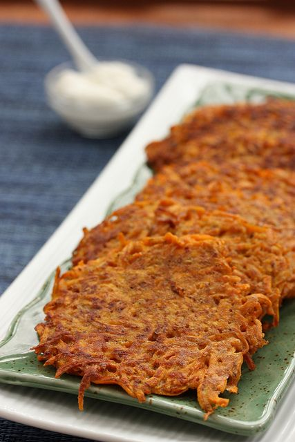 Sweet Potato Latkes | Hanukkah Celebration | Pinterest