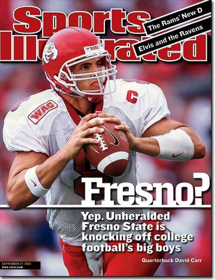 David carr fresno state qb my freshman and sophomore at state