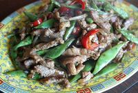 Stir fried pork with black bean sauce and green beans | Recipes ...