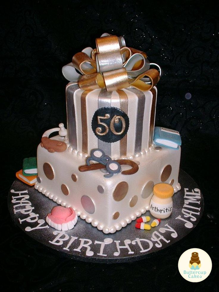 Cake Designs 50th Birthday : 50th Birthday Cake Cake ideas Pinterest