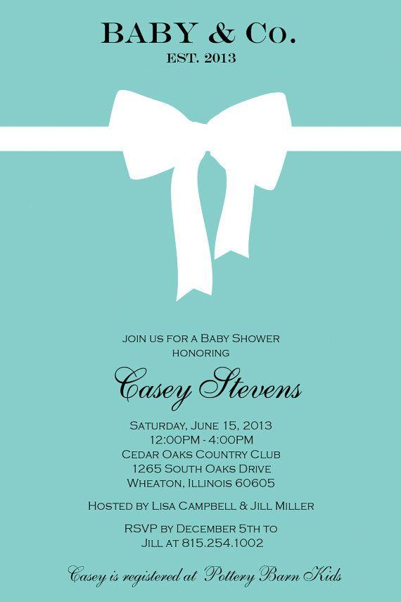 tiffany blue baby shower invitations inspired by tiffany blue box