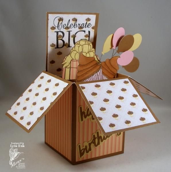 CC492 Cupcake Birthday Box_lb by Clownmom - Cards and Paper Crafts at Splitcoaststampers