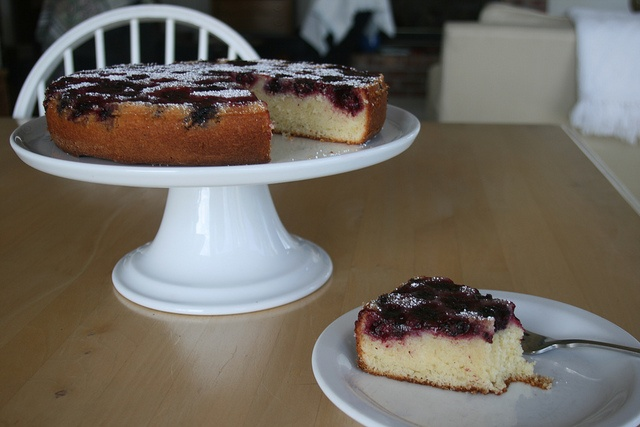 Blackberry Buttermilk Cake Recipe (the moveable feasts), batter made ...