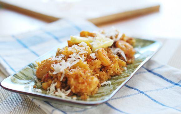 Pineapple Coconut Shrimp Fried Quinoa | Yummy to my tummy | Pinterest