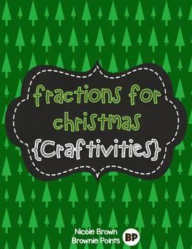 Fractions for christmas math craftivity christmas tree and