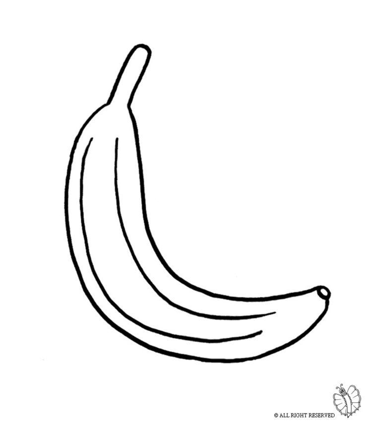 Disegno di banana da colorare disegni di alimenti da for Disegno pagliaccio da colorare