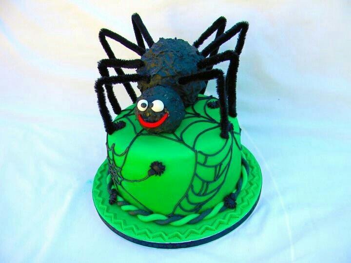 surprise spider cake