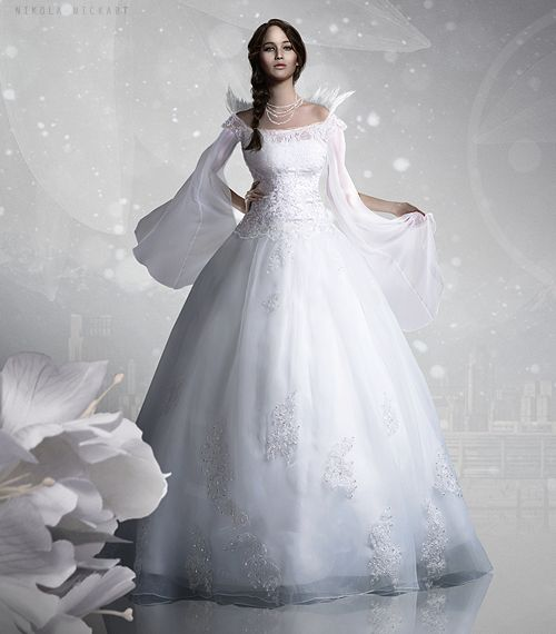 capitol couture katniss� wedding dress catching fire