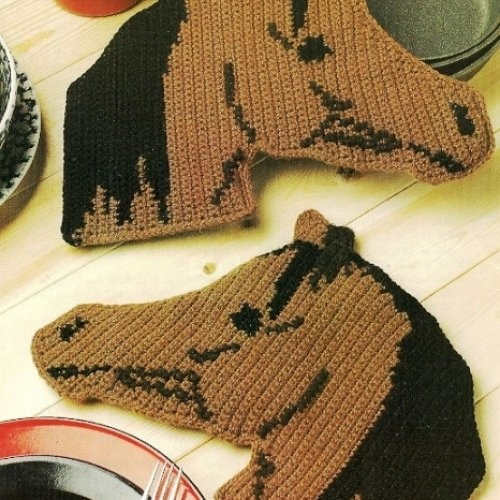 Crochet Arabian Horse Potholder Patterns Images - Frompo