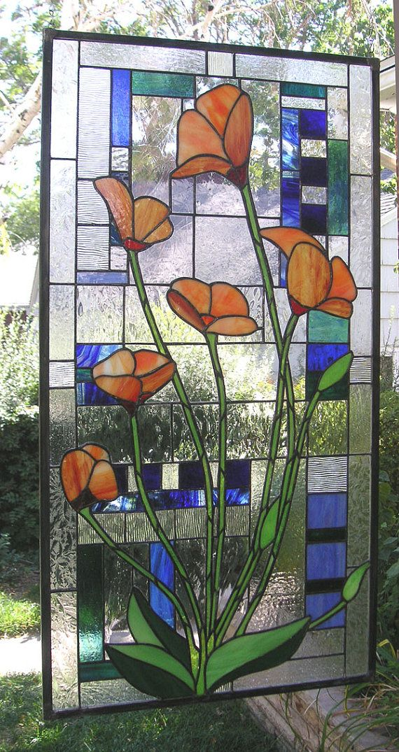 Stained Glass window Panel California by StainedGlassArtist, $724.00