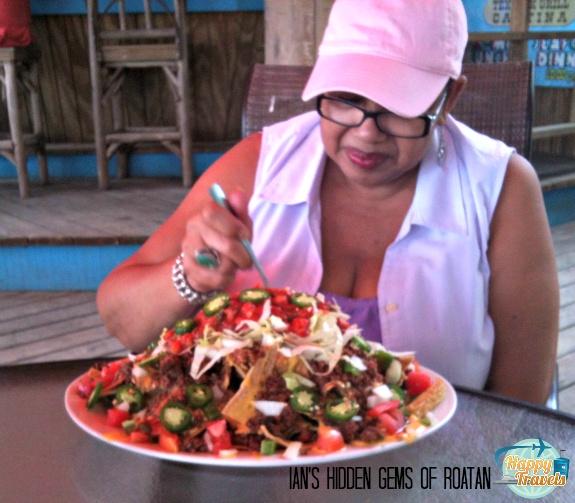 THAT is an order of nachos!!! Caribbean Blues Tex Mex Cantina in Rotan