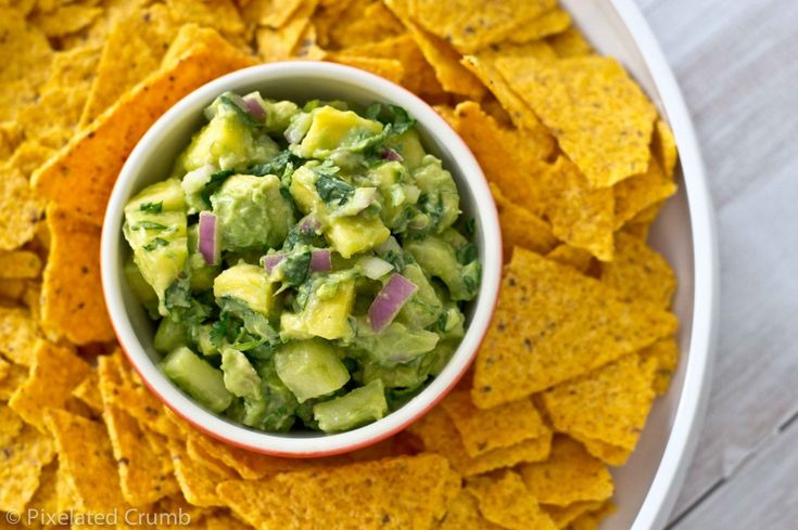 Pineapple and Cucumber Guacamole-Adding cucumber to guacamole is a ...