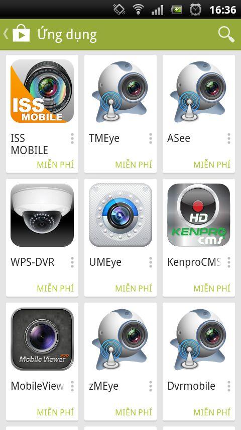 Phần mềm xem camera Questek trên điện thoại