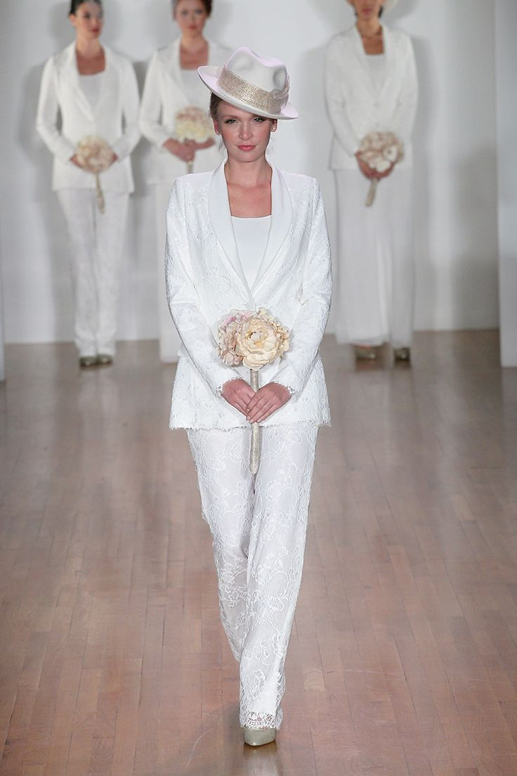 Bridal pant suits wedding for wendy bride two pinterest for Suit dresses for weddings