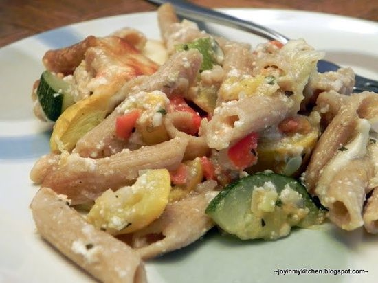 Baked Ziti with Summer Vegetables | Recipes | Pinterest