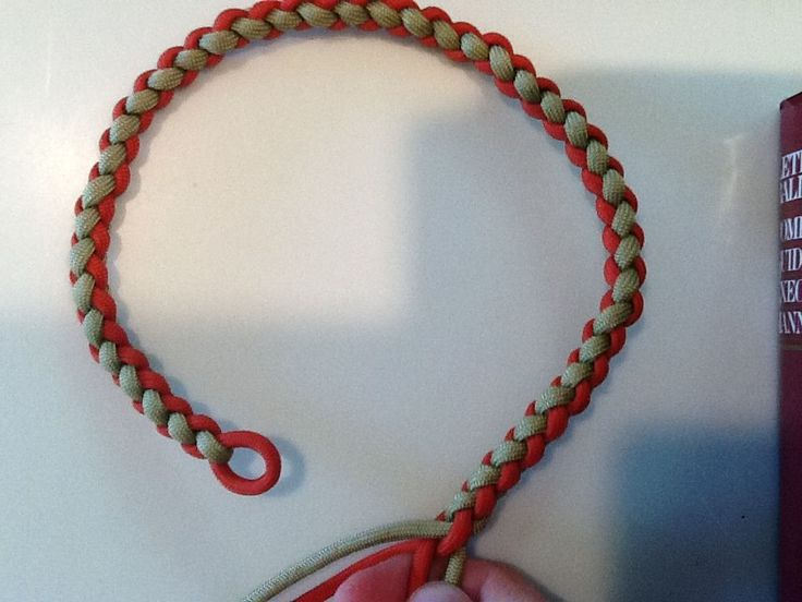 paracord necklace tutorial para cord pinterest