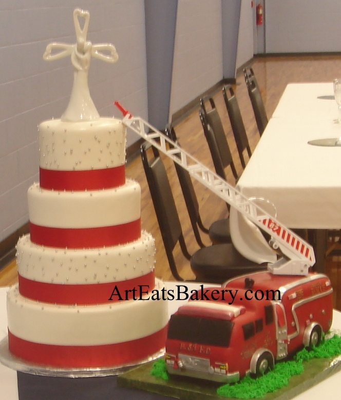 fire truck wedding cakes