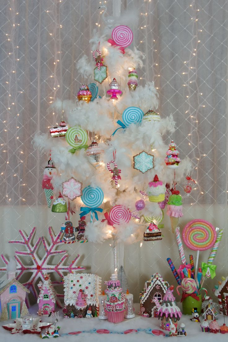 Candyland christmas decorations google search holidays for Candy xmas tree decoration