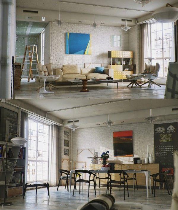 Brick Wall Studio Apartment Inspiration House Ideas I