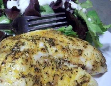 ... Baked Garlic Lemon Tilapia, made with garlic, lemon juice and fresh