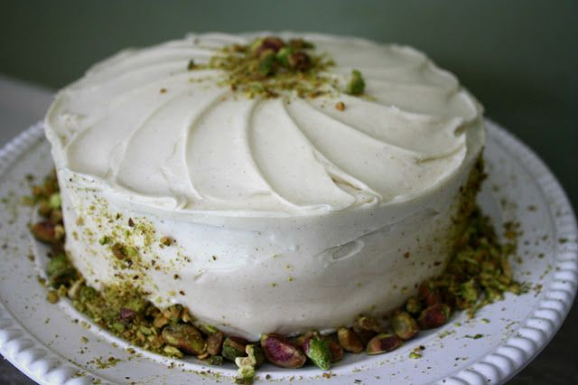 Pistachio-Carrot Cake with Maple Cream Cheese Frosting | Recipe
