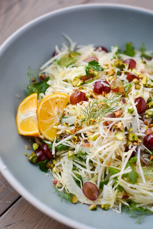 Fennel, grape and celery root salad