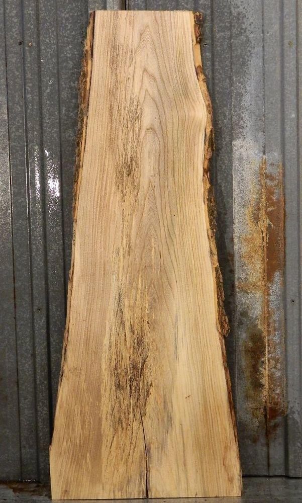 Spalted hackberry live edge lumber slab reclaimed wood table top 4525