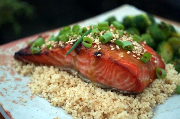 recipe for miso-ginger glazed salmon | Real Food | Pinterest
