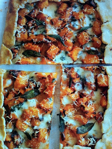 Roast Pumpkin , Blue Cheese and sage Tart | Recipe