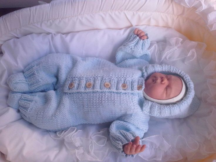Вязание костюмчика на новорожденного мальчика 923