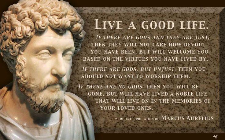 """Live a good life; just gods, unjust gods, or no gods."" - Marcus Aurelius"