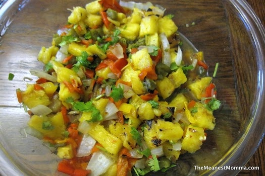 Grilled Pineapple Spicy Salsa | Whole 30 | Pinterest