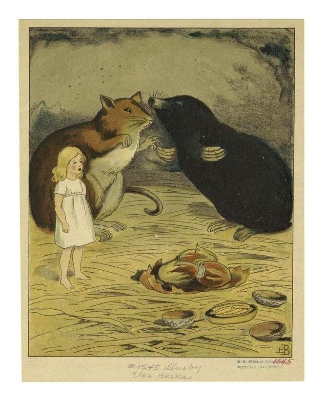 Thumbelina illustrated by Elsa Beskow 1920 via polarbearstale. blogspot.com.au