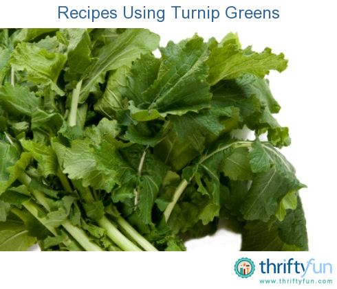 Recipes Using Turnip GreensGreen Turnip Recipe