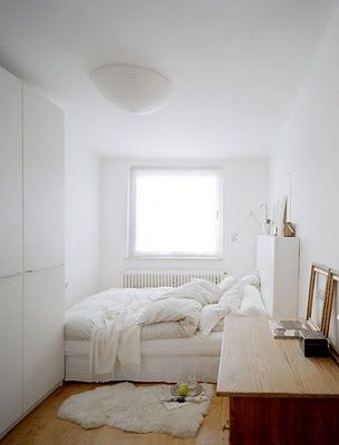 Maximize Bedroom Space Prepossessing Of All White Small Bedroom Photo