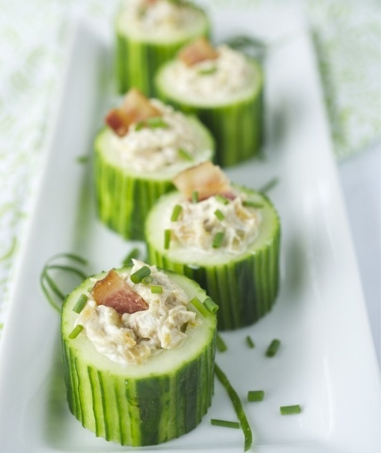 Cucumber cup appetizers | FOOD - Party Time | Pinterest