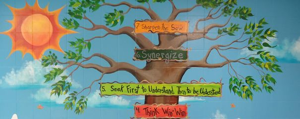 The 7 habits of happy kids mural teaching love that for 7 habits tree mural