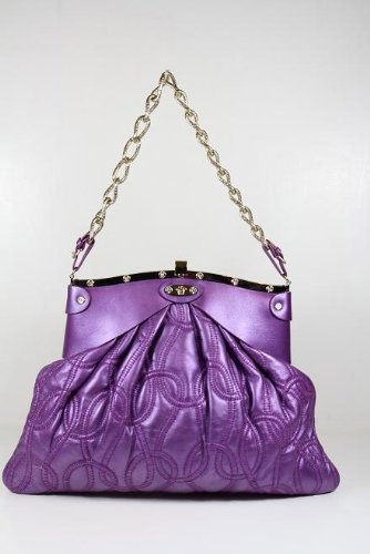 Versace Purple Leather Bag