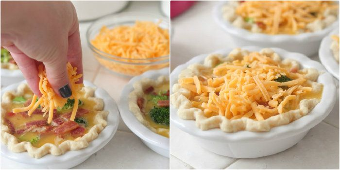 Mini Broccoli, Cheddar and Bacon Quiche - Picky Palate