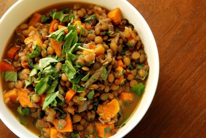 Luscious Lentil and Basil Soup | Recipes | Pinterest