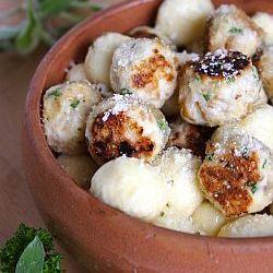 ... challenge - Zuni Cafe ricotta gnocchi with Parmesan chicken meatballs
